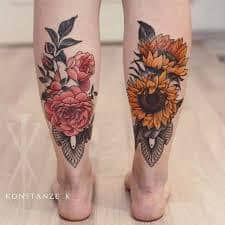 Calf Tattoo 6