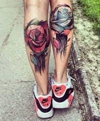Calf Tattoo 60