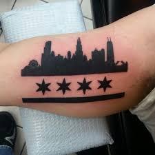 Chicago skyline tattoo 2 tattoo seo for Las vegas skyline tattoo