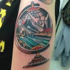 What Does Globe Tattoo Mean? | 45+ Ideas and Designs