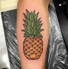 6df76def8816e What Does Pineapple Tattoo Mean? | 45+ Ideas and Designs
