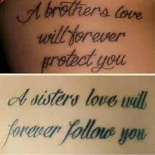 Brother Sister Tattoo Meaning 45 Ideas And Designs