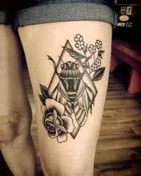cicada tattoo meaning ideas designs cicada tattoos. Black Bedroom Furniture Sets. Home Design Ideas