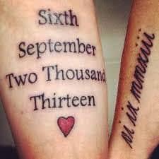 Date Tattoos 23