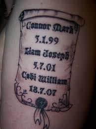 Date Tattoos 26
