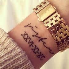 Date Tattoos 7