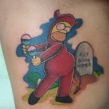Homer Simpson Tattoo 35