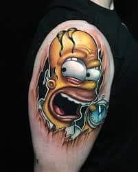 Homer Simpson Tattoo 36