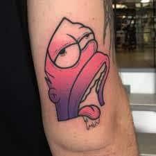 Homer Simpson Tattoo 5
