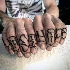 Knuckle Tattoos 28