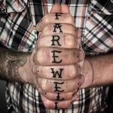 Knuckle Tattoos 33