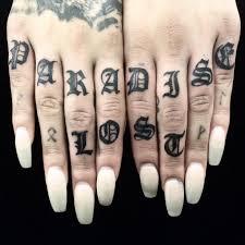 Knuckle Tattoos 50