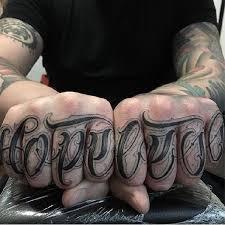Knuckle Tattoos 52