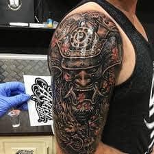 Oni mask tattoo 44 tattoo seo for Japanese tattoo chicago