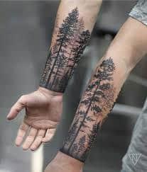 Pine Tree Tattoo 18