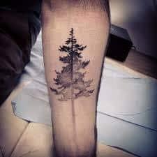 Pine Tree Tattoo 40