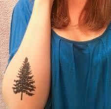 Pine Tree Tattoo 42