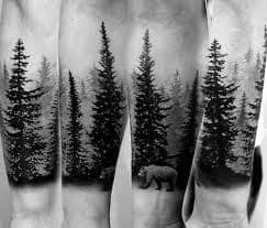 Pine Tree Tattoo 46