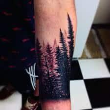 Pine Tree Tattoo 5