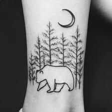 Pine Tree Tattoo 6