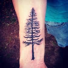 Pine Tree Tattoo 8