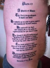 What Does Psalm 23 Tattoo Mean Represent Symbolism