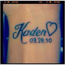 Baby Name Tattoo 12