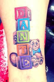 Baby Name Tattoo 33