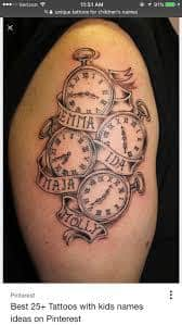 tattoos children tattoo names tatoos baby designs kid childrens represent spouse mama father