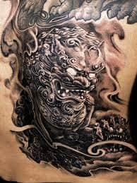Fu Dog Tattoo 1