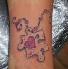 Puzzle Piece Tattoo 17