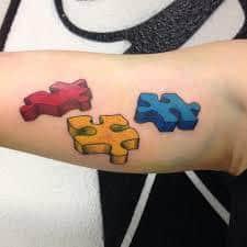 Puzzle Piece Tattoo 18