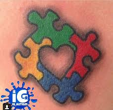 Puzzle Piece Tattoo 23