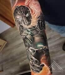 Robot Arm Tattoo 15
