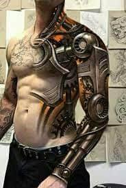 Robot Arm Tattoo 2