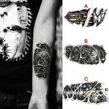 Robot Arm Tattoo 20