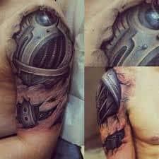 Robot Arm Tattoo 22
