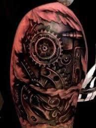 Robot Arm Tattoo 24