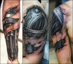 Robot Arm Tattoo 25