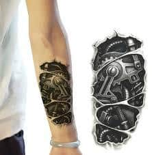 Robot Arm Tattoo 3