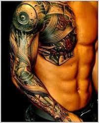 Robot Arm Tattoo 44