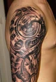Robot Arm Tattoo 9