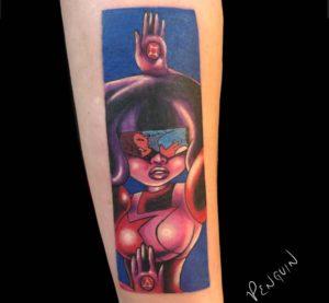 Sacramento Tattoo Artist Penguin 2