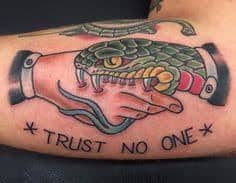 Trust No One Tattoo Meaning 45 Ideas And Designs