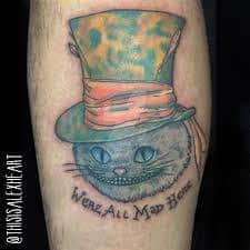 Were All Mad Here Tattoo 36