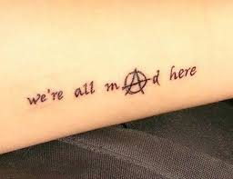 Were All Mad Here Tattoo 39