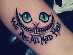 Were All Mad Here Tattoo 47