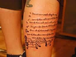 lyric tattoos 12