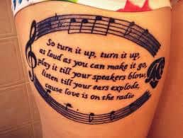 lyric tattoos 14