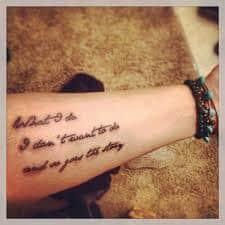lyric tattoos 43